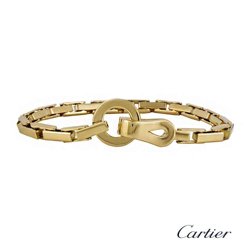 Cartier Yellow Gold Agrafe Bracelet